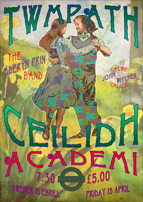 bangor ceilidh club and aderyn prin april 2016 poster